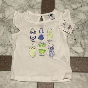 Janie and Jack toddler girl shirt. Size 3-6mo